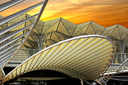 Financial Photo Posters - Oriente Station Poster by Carlos Caetano