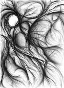 Expressionist Drawings - Origin by Michael Morgan