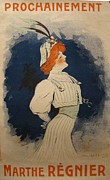 1920 Movies Art - Original 1909 French Poster Of Actress Marthe Regnier by Daniel De Losque