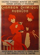 Belle Epoque Originals - Original Art Nouveau French Vintage Poster Charbon Chimique Cappiello by Leonetto Cappiello