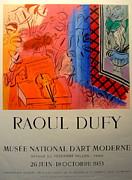 Mid Century Design Originals - Original Exhibition Poster 1953 Musee National Paris by Raoul Dufy