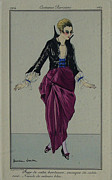 Turn Of The Century Originals - Original French Poster - Costumes Parisiens - Journal des dames et de la mode by Journal des dammes et de la mode