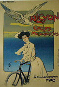 Belle Epoque Originals - Original French Vintage Poster Cycles Alcyon c 1900 by Ferdinand Mifliez Misti