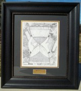 Pointillism Drawings - Original-Hourglass-Framed by Glenn McCarthy Art and Photography