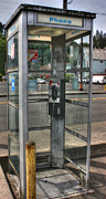 Telephone Booth Framed Prints - Original I-Phone Framed Print by David Bearden