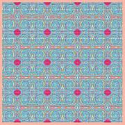 Mohammad Safavi Naini Art - Original Light Blue Patterns by Mohammad Safavi naini