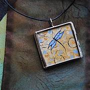 Acrylic Necklace Jewelry - Original Painting - The Dream by Dana Marie