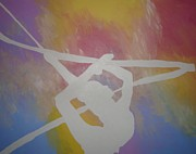 Gymnastics Paintings - Original Rhythmic Gymnast 5 by H George Vandeveer