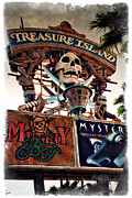 Tree Art Print Framed Prints - Original Treasure Island Marquee 1994 - IMPRESSIONS Framed Print by Ricky Barnard