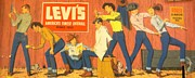 Levis Originals - Original Vintage Levi Strauss Poster 1950s  - Barber by Anonymous
