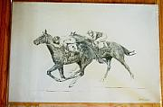 Race Drawings Originals - Original Western Artwork 9 by Smart Healthy Life