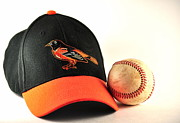 Hardball Posters - Orioles Cap and a Baseball Poster by Tim Elliott
