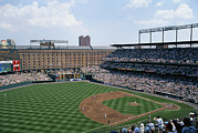 Orioles Framed Prints - Orioles Park. Kansas City Royals Framed Print by Brian Gordon Green