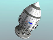 Space Travel Art - Orion-drive Spacecraft In Standard by Rhys Taylor
