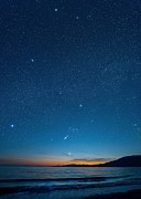 Orion Photos - Orion Over The Georgia Strait, Canada by David Nunuk
