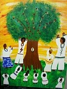 Yemaya Painting Originals - Orisha Family Worship by Sula janet Evans