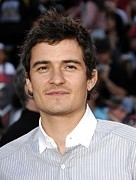 Premiere Metal Prints - Orlando Bloom At Arrivals For Premiere Metal Print by Everett