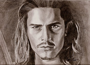 Pirates Mixed Media Originals - Orlando Bloom by Michael Mestas