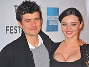 Tribeca Film Festival Posters - Orlando Bloom, Miranda Kerr At Arrivals Poster by Everett
