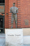 Baseball Stadiums Framed Prints - Orlando Cepeda at San Francisco Giants ATT Park .7D7631 Framed Print by Wingsdomain Art and Photography