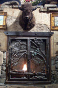 Fireplace Sculptures - Orlando Fireplace Door by Kirk Sullens