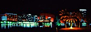 City Skylines Paintings - Orlando in black light by Thomas Kolendra