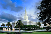 Orlando Framed Prints - Orlando LDS Temple Framed Print by Laurent Lucuix