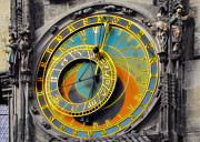 Moon Posters - Orloj - Astronomical Clock - Prague Poster by Christine Till