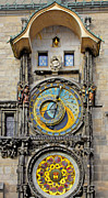 Night Time Posters - ORLOJ - Prague Astronomical Clock Poster by Christine Till