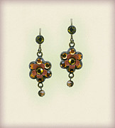 Gift Jewelry - Orly Zeelon Floral Bee Hive Earrings by Orly Zeelon