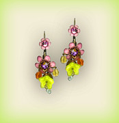 Multicolor Jewelry - Orly Zeelon Jewelry - The floral globe earrings by Orly Zeelon