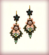 Gift Jewelry - Orly Zeelon Orly Zeelon The Filigree Stone Earrings by Orly Zeelon