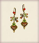 Red Jewelry - Orly Zeelon The Belle Epoque Earrings by Orly Zeelon