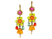 Multicolor Jewelry - Orly Zeelon The Floral Globe Earrings by Orly Zeelon