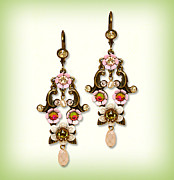 Multicolor Jewelry - Orly Zeelon The Majestic Floral Earrings by Orly Zeelon