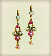 Multicolor Jewelry - Orly Zeelon Traditional Bell Earrings With beads by Orly Zeelon