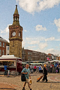 United Kingdom Greeting Cards Posters - Ormskirk Market 5 Poster by Liam Liberty