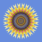 Flower Design Prints - Ornament 4 Print by Mark Greenberg
