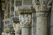 Art Sculptures Photos - Ornament of cloister of Puy en Velay. Haute Loire. Auvergne by Bernard Jaubert