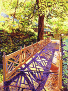 Garden Bridge Posters - Ornamental Bridge Poster by David Lloyd Glover