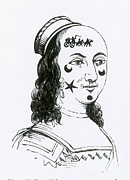 Applique Posters - Ornamental Patches On Face, 17th Century Poster by Photo Researchers