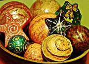 Folk Art Photos - Ornaments by Sarah Loft