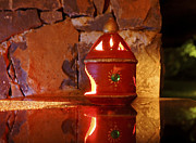 Festivals Of India Photos - Ornate Clay Lantern by Kantilal Patel