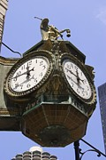 Father Time Posters - Ornate Clock In Chicago Poster by Mark Williamson
