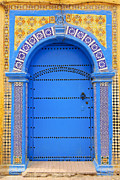 Vibrant Color Art - Ornate Moroccan Doorway, Essaouira, Morocco, Middle East, North Africa, Africa by Andrea Thompson Photography