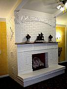 Ornamental Ceramics - Ornate Nouveau fireplace by Michelle  Robison