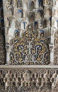 Calligraphy Prints - Ornate Plasterwork Print by David Kleinsasser