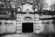 Unused Photo Prints - Ornate Unused Entrance To Glasgow Necropolis Victorian Cemetery Built By The Merchants House Of Glas Print by Joe Fox