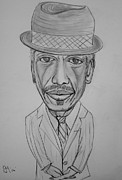 Caricature Drawings Posters - Ornette Poster by Pete Maier
