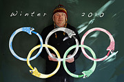Winter Sports Mixed Media - Oroborus Rings  by Bill  Thomson